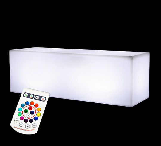 banc lumineux led droit ext rieur sans fil 239 salon d 39 t. Black Bedroom Furniture Sets. Home Design Ideas