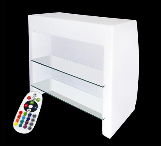 bar lumineux led l110cm multicolore droit modulaire sans fil 579 s. Black Bedroom Furniture Sets. Home Design Ideas