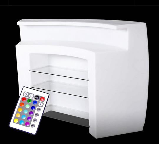 bar lumineux led l175cm multicolore rond sans fil avec plateau 799. Black Bedroom Furniture Sets. Home Design Ideas