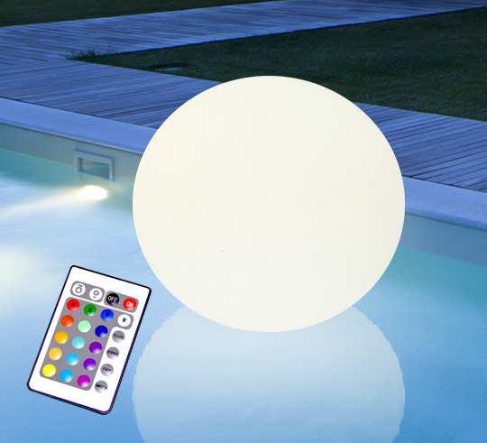 boule lumineuse led flottante piscine 50 cm rechargeable. Black Bedroom Furniture Sets. Home Design Ideas