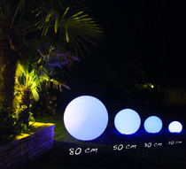boule lumineuse led jardin 80 cm sans fil 229 salon d 39 t. Black Bedroom Furniture Sets. Home Design Ideas