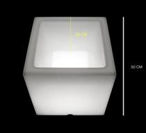 pot lumineux carr led 50 cm sans fil 139 salon d 39 t. Black Bedroom Furniture Sets. Home Design Ideas