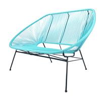 canap acapulco bleu turquoise 2 places 259 salon d 39 t. Black Bedroom Furniture Sets. Home Design Ideas