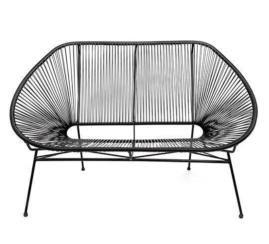canap acapulco noir 2 places 259 salon d 39 t. Black Bedroom Furniture Sets. Home Design Ideas