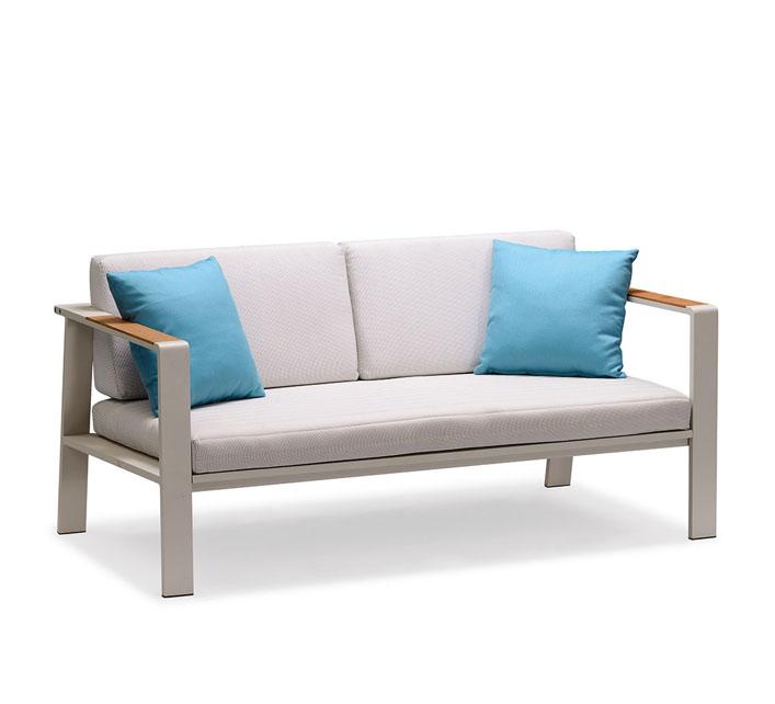 salon de jardin haut de gamme 4 places lounge nofi beige. Black Bedroom Furniture Sets. Home Design Ideas