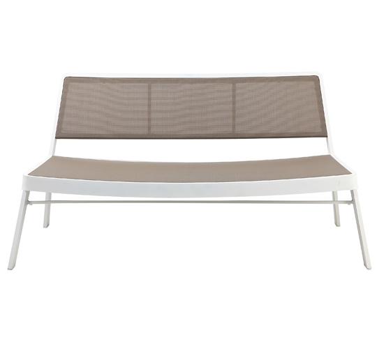 canap de jardin aluminium blanc 139 salon d 39 t. Black Bedroom Furniture Sets. Home Design Ideas