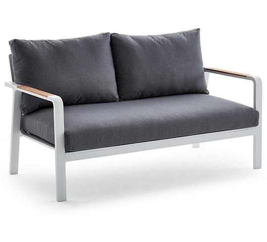 canap de jardin 2 places blanc havana 599 salon d 39 t. Black Bedroom Furniture Sets. Home Design Ideas