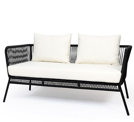 Canapé de Jardin Fil Noir Mexico 279€ | Salon d\'été