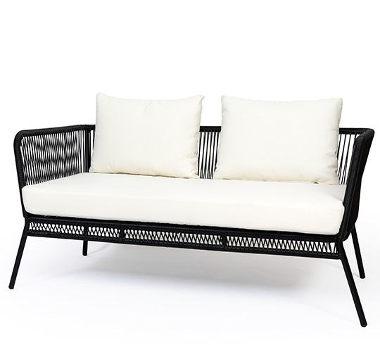canap de jardin 2 places fil noir mexico 279 salon d 39 t. Black Bedroom Furniture Sets. Home Design Ideas