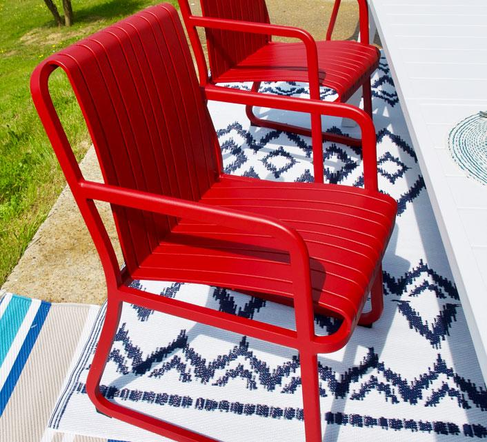 Salon de Jardin Aluminium 8 personnes Table Extensible 225-310cm ...