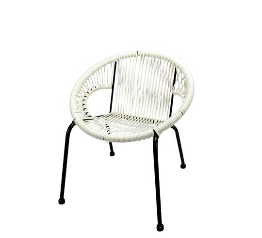 Chaise de jardin ipanema enfant fil blanc 59 salon d 39 t - Chaise blanc d ivoire ...