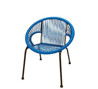 Chaise de Jardin Ipanema Fil Noir 95€   Salon d\'été