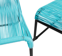 chaise de jardin lounge fil bleu turquoise repose pieds cancun 149. Black Bedroom Furniture Sets. Home Design Ideas
