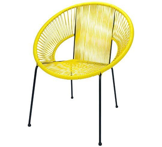 Chaise de Jardin Ipanema Fil Jaune 95€ | Salon d\'été