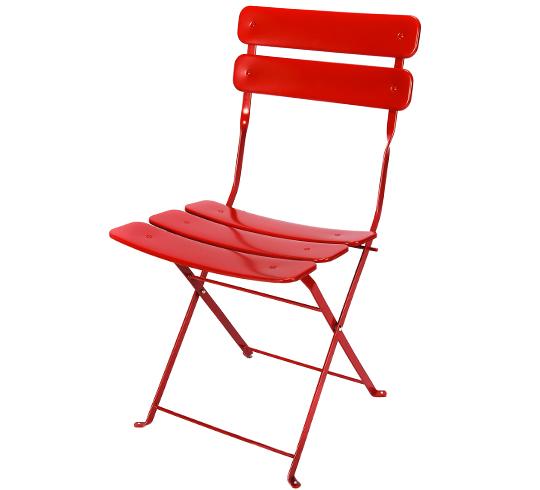 Chaise de Jardin Pliante Rouge Mat 29€ | Salon d\'été