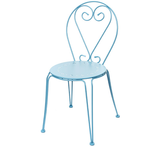 chaise de jardin romantique bleu pastel mat 32 salon d 39 t. Black Bedroom Furniture Sets. Home Design Ideas