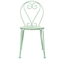 Chaise de jardin romantique vert d 39 eau mat 32 salon d 39 t - Salon de jardin romantique ...