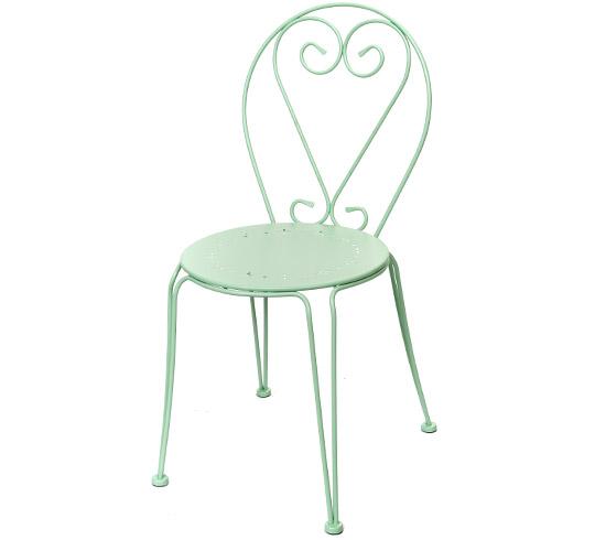 Chaise de jardin romantique vert d 39 eau mat 32 salon d 39 t - Chaise salon de jardin vintage ...