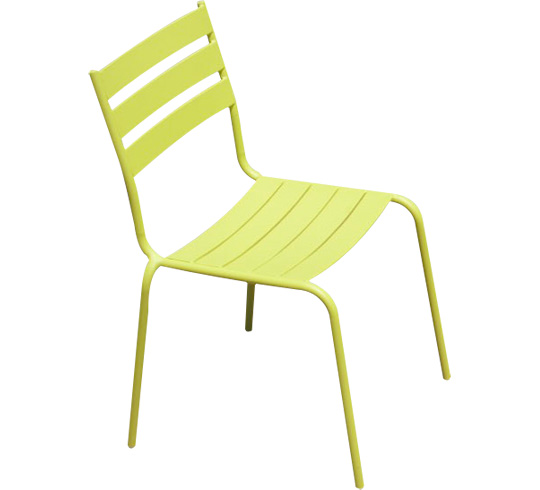 Chaise de jardin paris lux vert anis 29 salon d 39 t for Salon de jardin de couleur