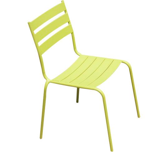 Chaise de Jardin Paris Lux Vert Anis 29€ | Salon d\'été