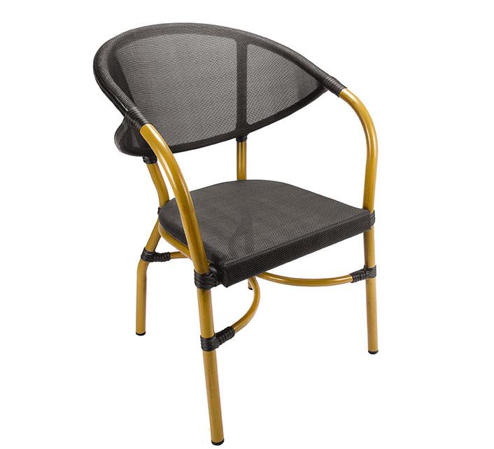 Chaise De Terrasse Parisienne Resine Tressee Noir 95 Salon D Ete