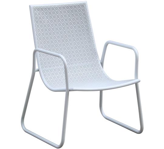 Chaise de jardin ibiza blanche 29 salon d 39 t for Chaise blanche salon