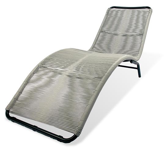 chaise longue bain de soleil acapulco fil gris 119 salon d 39 t. Black Bedroom Furniture Sets. Home Design Ideas
