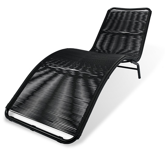 chaise longue de jardin acapulco fil noir 119 salon d 39 t. Black Bedroom Furniture Sets. Home Design Ideas