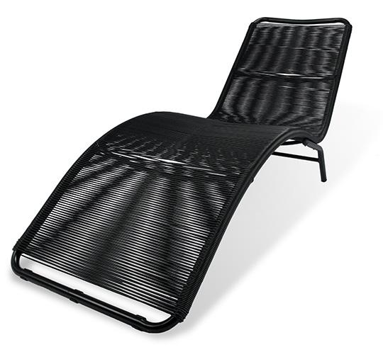 Chaise Longue de Jardin Acapulco Fil Noir 119€ | Salon d\'été