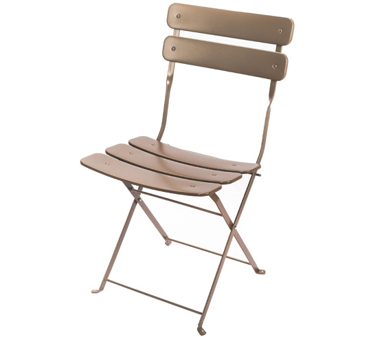Chaise de jardin pliante taupe mat