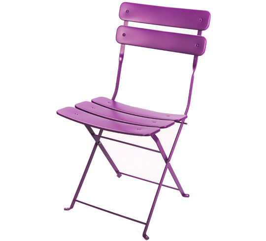Chaise de jardin pliante violet mat 29 salon d 39 t for Chaise salon de jardin couleur