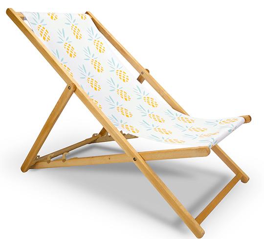 chilienne bois motif ananas jaune l130cm 59 salon d 39 t. Black Bedroom Furniture Sets. Home Design Ideas