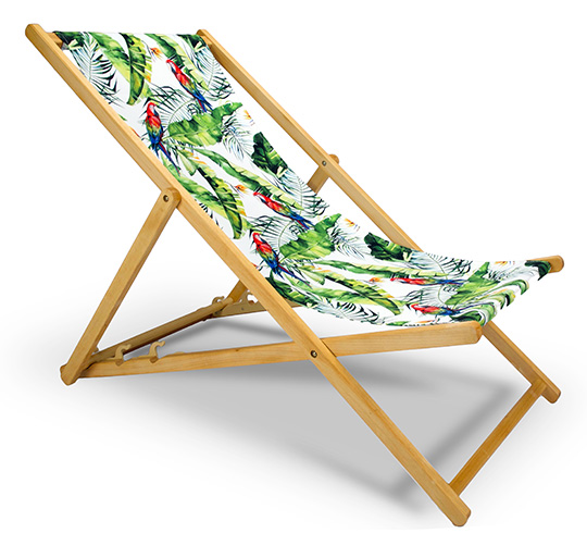 Chilienne Bois Motif Jungle Perroquet L130cm