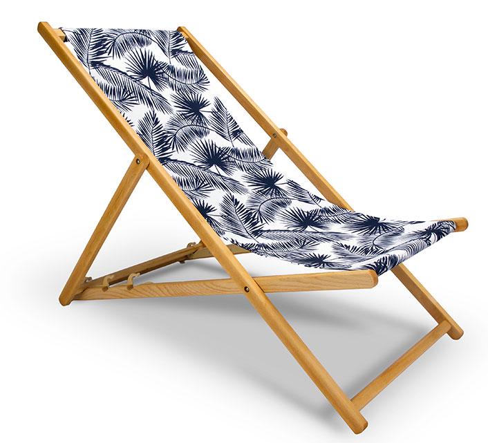 Chilienne Bois Motif Palmier Bleu Fonce L130cm 65EUR