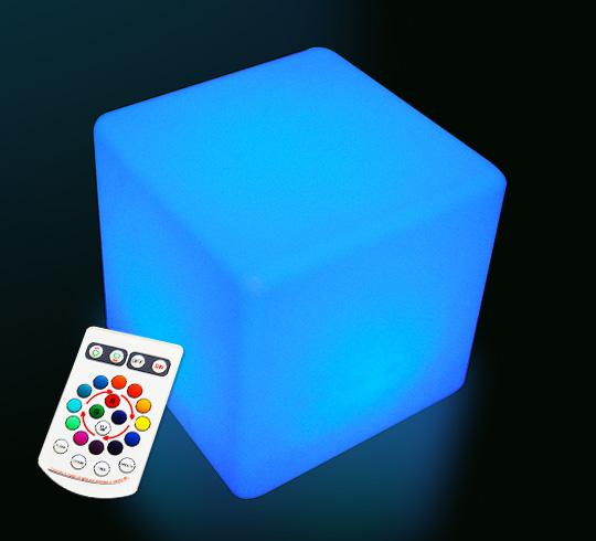 Cube Lumineux Led Extérieur 40 Cm Sans Fil