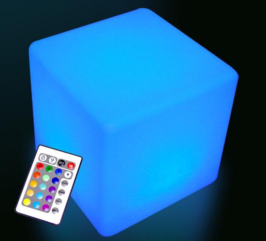 Cube lumineux led ext rieur 60 cm sans fil 179 salon d 39 t for Cube lumineux exterieur