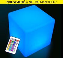 Cube lumineux led ext rieur 60 cm sans fil 179 salon d 39 t for Cube lumineux exterieur sans fil