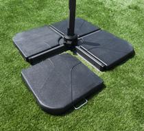 Dalle pour parasol d port 25kg carr e l 39 unit 30 - Dalle beton pour parasol deporte ...