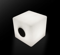 enceinte bluetooth cube lumineux led 20 cm ext rieur sans. Black Bedroom Furniture Sets. Home Design Ideas