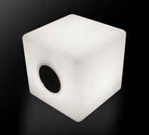enceinte bluetooth cube lumineux led 40 cm ext rieur sans. Black Bedroom Furniture Sets. Home Design Ideas