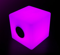 enceinte bluetooth cube lumineux led 40 cm ext rieur sans. Black Bedroom Furniture Sets. Home Design Ideas