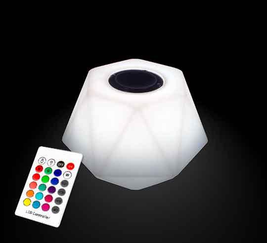 enceinte bluetooth lumineuse led 23 cm ext rieur sans fil 69 salon d 39 t. Black Bedroom Furniture Sets. Home Design Ideas