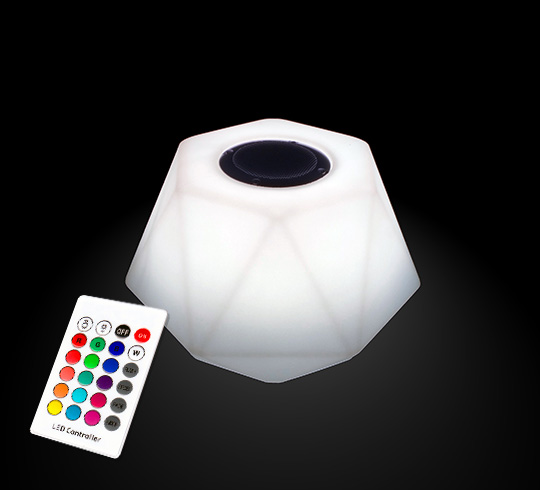 enceinte bluetooth lumineuse led 23 cm ext rieur sans fil 69 salon. Black Bedroom Furniture Sets. Home Design Ideas