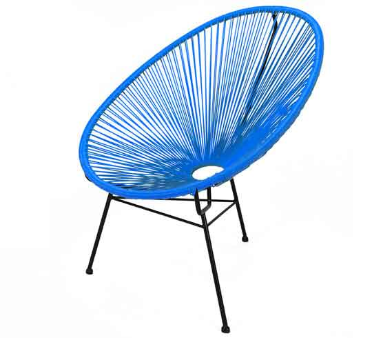 fauteuil acapulco bleu 79 salon d 39 t. Black Bedroom Furniture Sets. Home Design Ideas