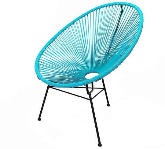 fauteuil acapulco bleu turquoise 79 salon d 39 t. Black Bedroom Furniture Sets. Home Design Ideas