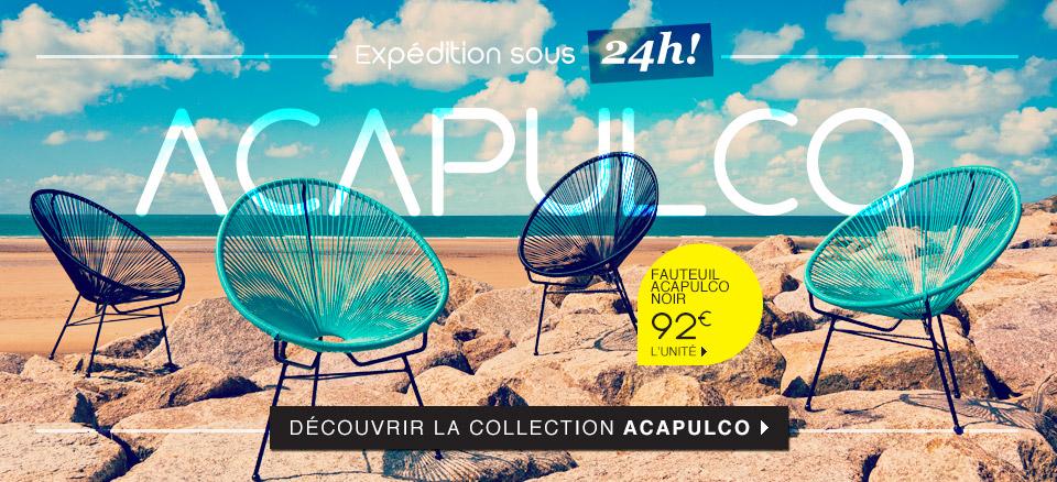Mobilier de jardin salon d t mobilier salon de jardin - Fauteuil acapulco pas cher ...