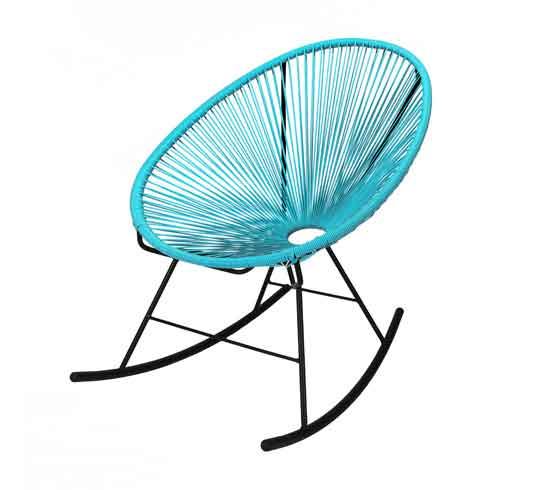 fauteuil acapulco rocking chair bleu turquoise 95 salon d 39 t. Black Bedroom Furniture Sets. Home Design Ideas