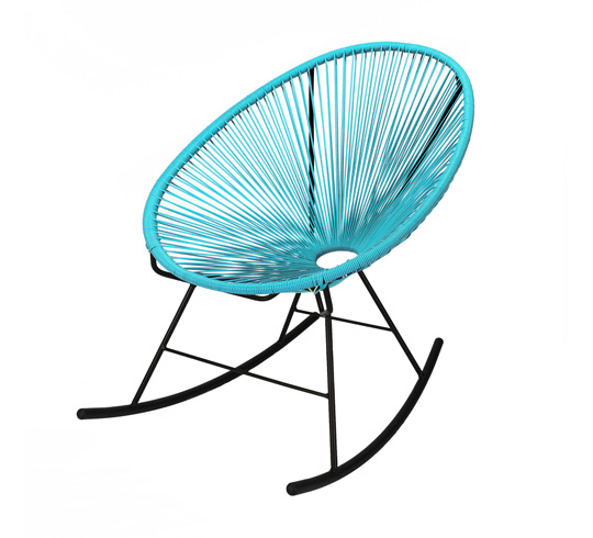 Fauteuil Acapulco Rocking Chair Bleu Turquoise