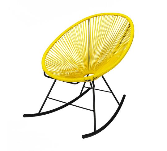 Fauteuil Acapulco Rocking Chair Jaune 95€ | Salon d\'été