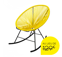 fauteuil acapulco rocking chair jaune 109 salon d 39 t. Black Bedroom Furniture Sets. Home Design Ideas